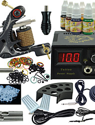 Ophir Beginner Tattoo Kit Power Supply 7 Ink Set One Machine Equipment