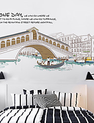 Architecture / Still Life / Leisure Wall Stickers Plane Wall Stickers / Mirror Wall Stickers Decorative Wall Stickers,PVC Material