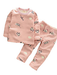 Boy's Casual/Daily Print Clothing Set / SleepwearCotton Spring / Fall Blue / Green / Pink / White