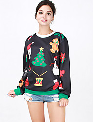 Round Neck Long-Sleeved Sweater Large-size Theme Clothing