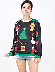 Round Neck Long-Sleeved Sweater Large-size Theme Clothing