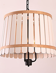 Pendant Light ,  Vintage Retro Country Wood Feature for Designers Metal Living Room Bedroom Dining Room Study Room/Office Kids Room