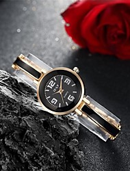 Women's Fashion Watch Bracelet Watch Quartz Water Resistant Water Proof Alloy Band Charm Casual Black Silver Pink Brand