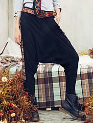 Aporia.As Women's Print Black Loose PantsStreet chic Fall-MZ34001