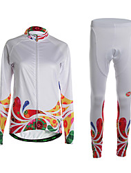 Sports Cycling Jersey with Tights Women's Long Sleeve Thermal /Wearable / 3D Pad / Ultra Light Fabric / Comfortable