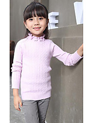 Girl's Casual/Daily Striped Sweater & CardiganWool Winter / Spring / Fall Pink / White