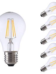 4W E26/E27 LED Glühlampen A60(A19) 4 COB 400 lm Warmes Weiß Dekorativ V 6 Stück