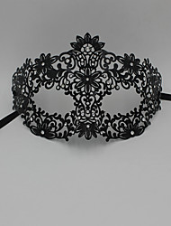 Laser Cut Metal Venetian Masquerade Mask for Women with Crystals2007A1