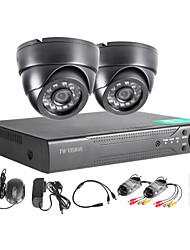 twvision 4ch hdmi 960H CCTV-DVR Videoüberwachungsrekorder 1000tvl Dome-Kameras CCTV-System