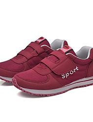 Men's Sneakers Fall / Winter Comfort Tulle Casual Flat Heel Others / Hook & Loop Black / Red Walking