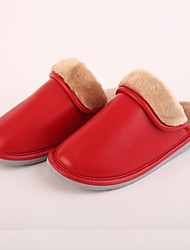 M.livelihood.H Women's Slippers & Flip-Flops Winter Slingback Cowhide Casual Flat Heel Others Red Others-LB2016023
