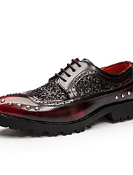 Men's Oxfords Fall / Winter Others Leather Casual Sparkling Glitter / Lace-up Black / Burgundy Others