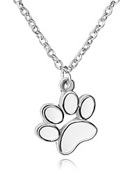 Necklace Dog's Paw Pendant Necklaces Jewelry Party / Daily Unique Design Lovely