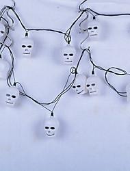 1pc ted decoração suprimentos abóbora de Halloween Haunted House bar KTV esqueleto fantasma cabeça da lâmpada noite lanternas de cordas