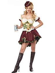 Womens Traditional Beer Girl CostumeWomen French Maid Halloween Costumes Bavaria Oktoberfest Costume