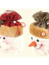 1шт Санта-Клауса Рождественский подарок мешок Рождественский подарок Рождественский подарок (случайный цвет)