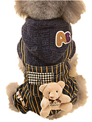 Dog Sweater Gray Dog Clothes Winter Animal Keep Warm