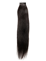 20PCS Tape In Hair Extensions Dark Brown  40g 16Inch 20Inch 100% Human Hair For Women