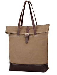 New Brief Men Women Shoulder Bag Canvas Leather Casual Carry On Bags