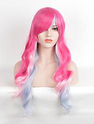 mode rose rouge à Bule couleurs mélangées perruques synthétiques bouclés pour les femmes afro