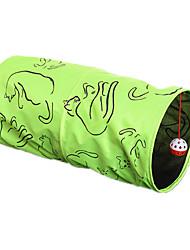 Gatos Brinquedos para Animais Tubos e Túneis Durável Verde Téxtil