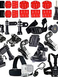 Accessoires pour GoPro,Protège-objectif Monopied Trépied Vis Buoy Grande Fixation Ventouse Caméra Sportive Avec Bretelles Clip Poignées