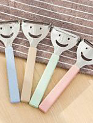 Lovely Peeler  Stainless Steel Fruit Knife Peeler  Multi Function Knife Sharpener  Smile Skin (Random Colour)