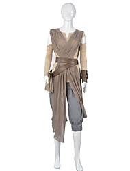 Cosplay Costumes / Star Wars Rey Cosplay Star Wars The Force Despierta Cosplay Traje Adulto de la Mujer Traje de Halloween