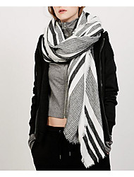 Women Faux Fur Scarf RectangleGeometric