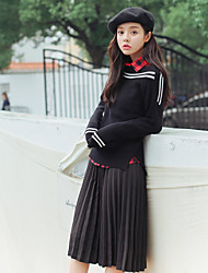 Sign Korean autumn and winter collar strapless angora sweater female college wind striped knit shirt