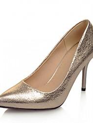 Women's Heels Spring Fall Leatherette Office & Career Casual Dress Stiletto Heel Gold Purple Sliver