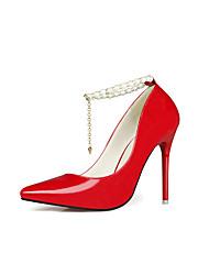 Mujer-Tacón Stiletto-Others-Tacones-Vestido / Casual / Fiesta y Noche-Semicuero-Morado / Rojo