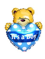 Balões Decoração Para Festas Forma de Coração / Animal alumínio Azul Para Meninos / Para Meninas 5 a 7 Anos