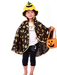 Children 'S Day Halloween Costumes Hardcover Pumpkin Buckets Pumpkin Hat Lanterns Gold Pumpkin Shawl Cloak