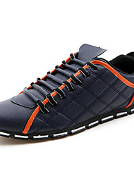 Men's Sneakers Spring / Summer / Fall / Winter Comfort Leatherette Outdoor / Athletic / Casual Low Heel Lace-up Black / Blue / White