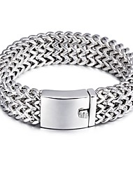 Kalen New Fashion 316 Stainless Steel Link Chain Bracelets High Polished Mesh Bracelets For Men Cool Trendy Accessory Gifts