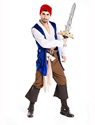 Pirate Festival/Holiday Costumes Top / Pants / Belt / Headwear / Leg Warmers / Vest / Hat Male Polyester