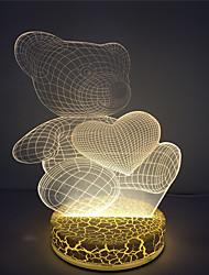 2016 оптового сердца несут мило 3D-эффект привело свет таблицы