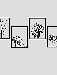 AYA DIY Wall Stickers Wall Decals Four Trees Style PVC Stickers 40*30cm*4