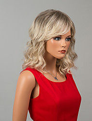 Mid-Length Capless Wigs Natural Wave Human Hair Ombre Wigs