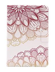 Pour Porte Carte / Origami Coque Coque Arrière Coque Fleur Dur Cuir PU pour Apple iPad Mini 4 / iPad Mini 3/2/1