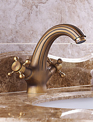Bathroom Sink Faucet Antique Inspired Design - Antique Brass Finish Faucet