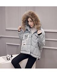 Sign new raccoon fur collar Nagymaros A word Korean loose hooded long coat jacket