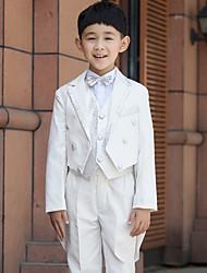 Serge Ring Bearer Suit - Six-piece Suit Pieces Includes  Jacket / Shirt / Vest / Pants / Waist cummerbund / Bow Tie