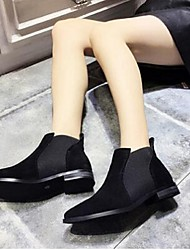 European Grand Prix 2016 new Duantong knight boots thick with the tip of the elastic band with a solid color suede flat boots a pedal
