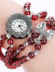 Women's Bracelet Quartz Personality Simple Agate Bead Cool Unqiue Watch Round Alloy Dial Originality Casual Fashion Watch