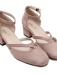 Women's Sandals Comfort PU Casual Pink Gray
