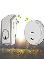 Battery-Free Self-Powered Wireless Remote Control Doorbell with Over 48 Chimes-WHITE