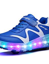 Para Niño-Tacón Cuña-Confort Light Up Zapatos-Zapatillas de Atletismo-Exterior Deporte Informal-PU-Azul Rosa