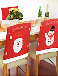 1PCS The Seat Cover With Santa Claus Cartoon Chair Cover 50*56Cm
